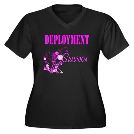 Deployment Survivor Women's Plus Size V-Neck Dark