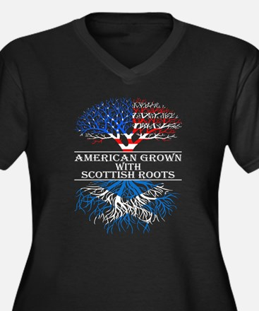 American Grown With Scottish Roo Plus Size T-Shirt
