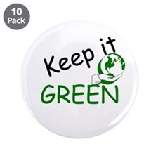 """Keep it Green 3.5"""" Button (10 pack)"""