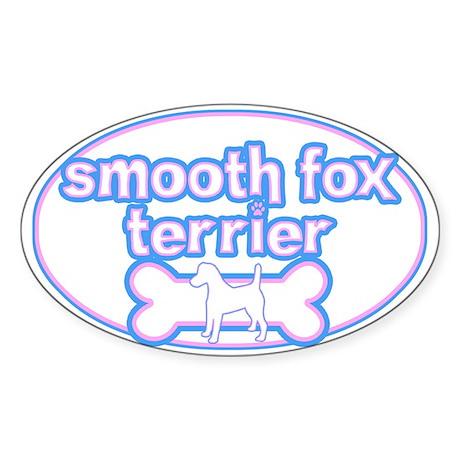 Powderpuff Smooth Fox Terrier Oval Sticker
