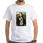Mona Lisa's Schnauzer Puppy White T-Shirt