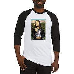 Mona Lisa's Schnauzer Puppy Baseball Jersey