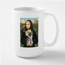Mona Lisa's Schnauzer Puppy Large Mug