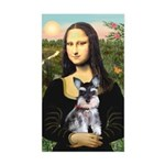 Mona Lisa's Schnauzer Puppy Sticker (Rectangle)