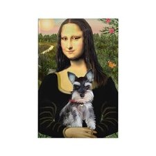 Mona Lisa's Schnauzer Puppy Rectangle Magnet