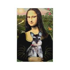 Mona Lisa's Schnauzer Puppy Rectangle Magnet