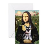 Mona Lisa's Schnauzer Puppy Greeting Cards (Pk of