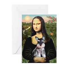Mona Lisa's Schnauzer Puppy Greeting Cards (Pk of