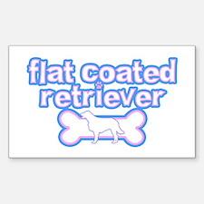 Powderpuff Flat Coat Rtvr Rectangle Decal
