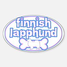 Powderpuff Finnish Lapphund Oval Decal