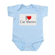 """I Love (Heart) Car Shows"" Infant Bodysuit"