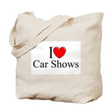 """I Love (Heart) Car Shows"" Tote Bag"