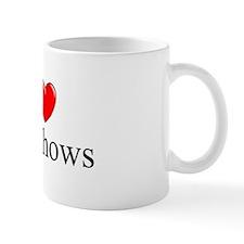 """I Love (Heart) Car Shows"" Mug"