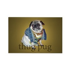 Thug Pug Rectangle Magnet