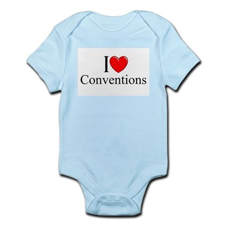 """""""I Love (Heart) Conventions"""" Infant Bodysuit"""