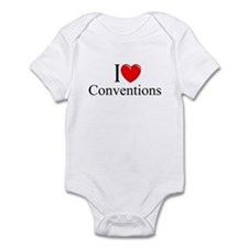 """I Love (Heart) Conventions"" Infant Bodysuit"