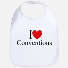 """I Love (Heart) Conventions"" Bib"