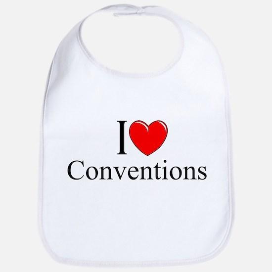 """I Love (Heart) Conventions"" Bib"