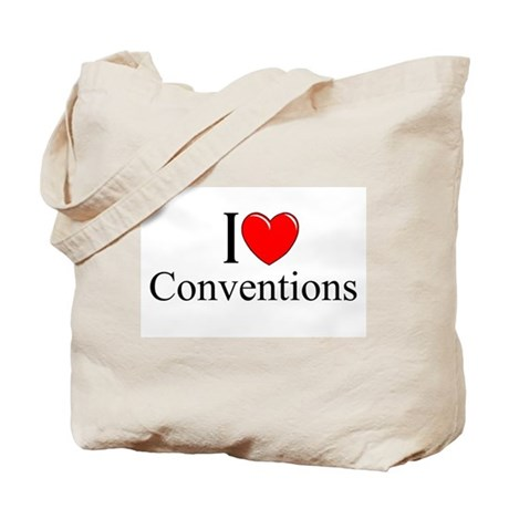 """""""I Love (Heart) Conventions"""" Tote Bag"""