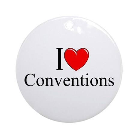 """I Love (Heart) Conventions"" Ornament (Round)"