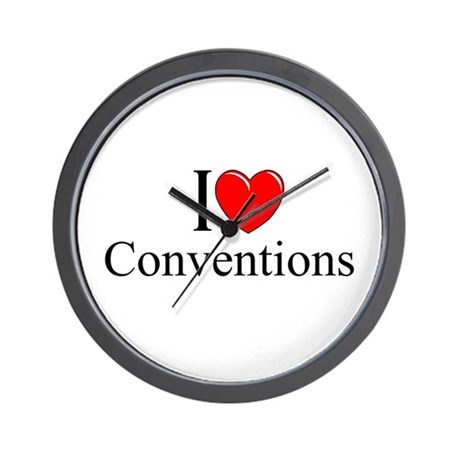 """I Love (Heart) Conventions"" Wall Clock"