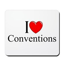 """I Love (Heart) Conventions"" Mousepad"