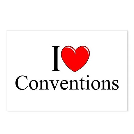 """""""I Love (Heart) Conventions"""" Postcards (Package of"""