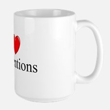 """I Love (Heart) Conventions"" Ceramic Mugs"
