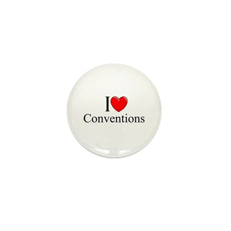 """""""I Love (Heart) Conventions"""" Mini Button"""