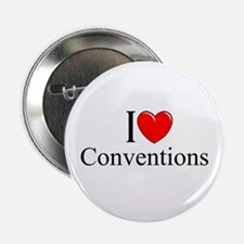 """""""I Love (Heart) Conventions"""" 2.25"""" Button"""