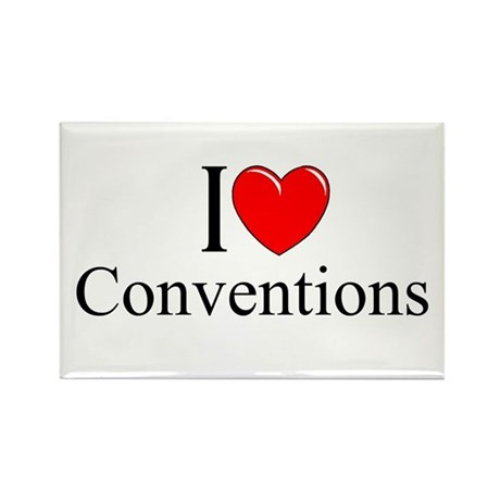 """""""I Love (Heart) Conventions"""" Rectangle Magnet"""