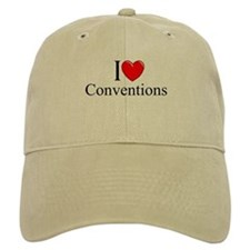 """I Love (Heart) Conventions"" Baseball Cap"