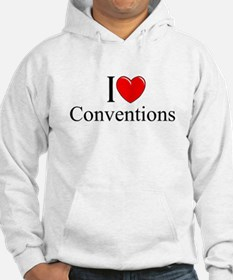 """""""I Love (Heart) Conventions"""" Hoodie"""