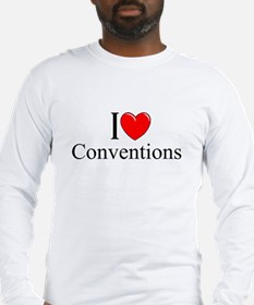 """I Love (Heart) Conventions"" Long Sleeve T-Shirt"