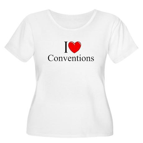 """I Love (Heart) Conventions"" Women's Plus Size Sco"