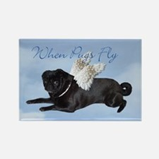 When Pugs Fly Rectangle Magnet