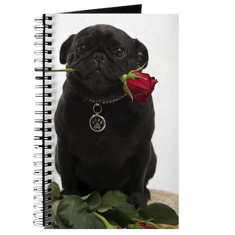 Cute Black Pug Journal