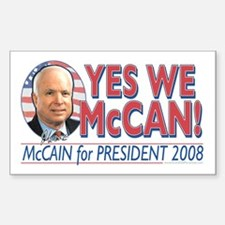 McCain McCan 2008 Rectangle Decal