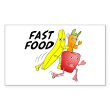 Fast Food Rectangle Decal