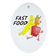 Fast Food Oval Ornament