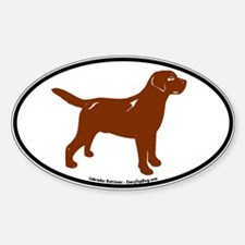 Chocolate Lab Oval Decal