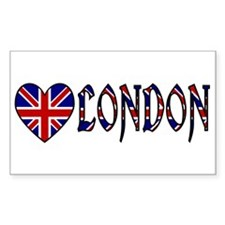 Love London Rectangle Decal