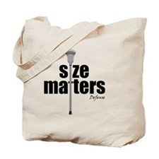 Lacrosse Size Matters Defense Tote Bag