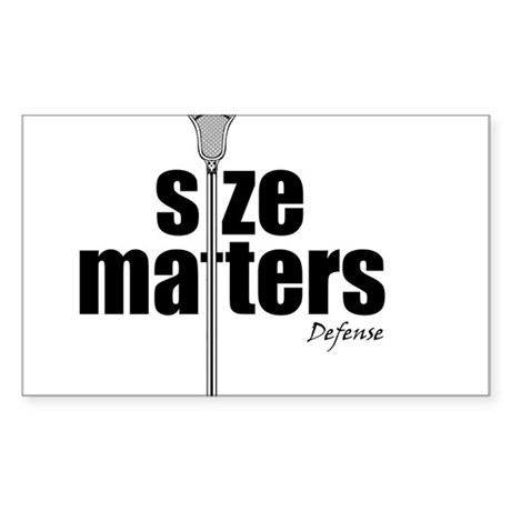 Lacrosse Size Matters Defense Rectangle Sticker
