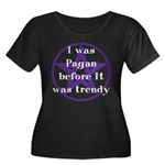 Trendy Pagan Women's Plus Size Scoop Neck Dark T-S