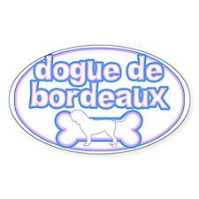 Powderpuff Dogue de Bordeaux Oval Decal