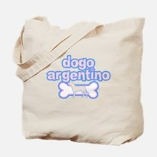 Powderpuff Dogo Argentino Tote Bag