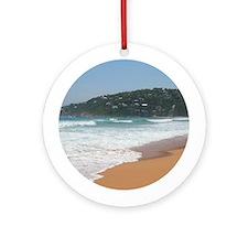 Palm Beach Surf, Sydney NSW Round Ornament