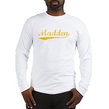 Vintage Madden (Orange) Long Sleeve T-Shirt