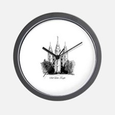 LDS Temple Illustration  Wall Clock